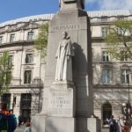 Edith Cavell's memorial, outside the National Portrait Gallery