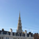 Spire of St Bride's Church - the original wedding cake!