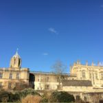 Christ Church, Oxford from the south on a lovely sunny day.