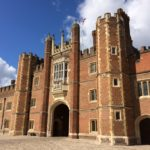 Hampton Court Palace - the Great Gatehouse from Base Court